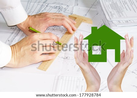 Construction Technology.Business Design Home - stock photo