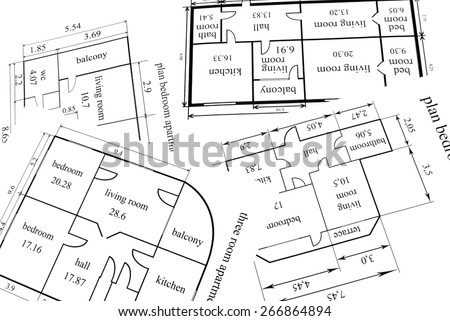 Construction tools and architecture plan - stock photo