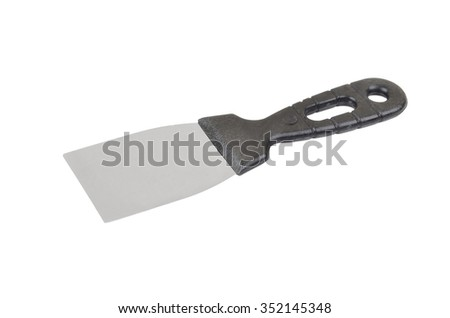 Construction wall spatula scraper - stock photo