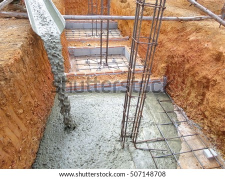 Poured in place concrete stock images royalty free images for Poured concrete foundation