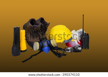 construction work safety. - stock photo