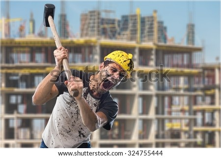 Construction worker. - stock photo