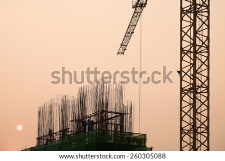 construction worker, over time - stock photo