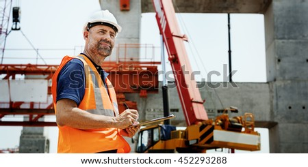 Construction Worker Planning Constructor Developer Concept