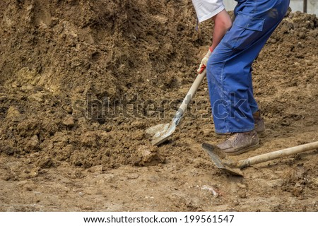 Digging With A Shovel Stock Images Royalty Free Images