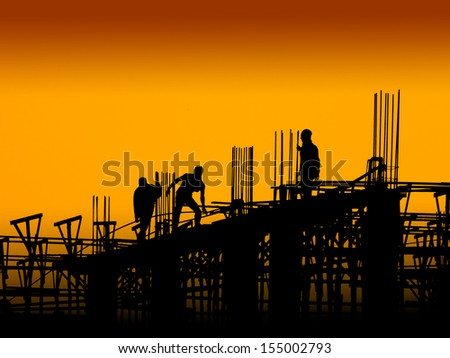 Construction worker working on a construction site