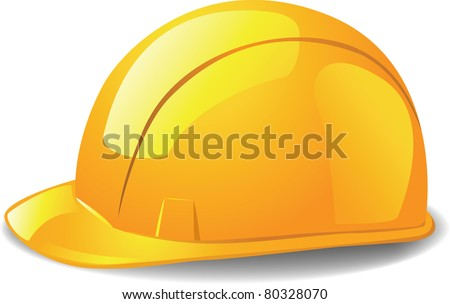 construction workers hard hat - stock photo