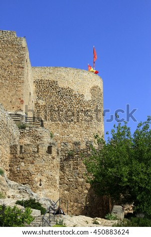 Consuegra castle in Castilla La Mancha in Spain