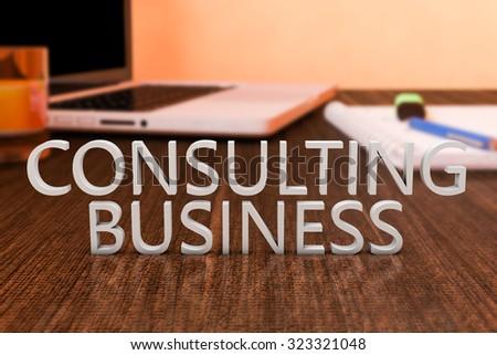 Business Consumer Letters On Wooden Desk Stock Illustration