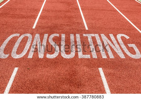 Consulting written on running track