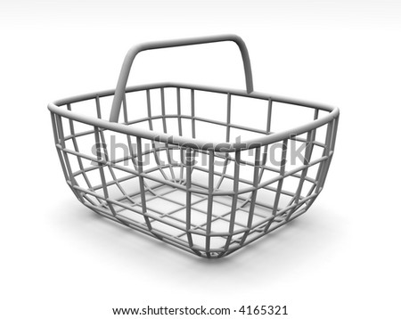 Consumer's basket. 3d - stock photo