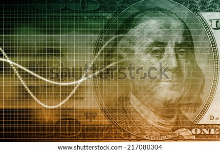 Consumer Spending Data as Economy Analysis Art - stock photo