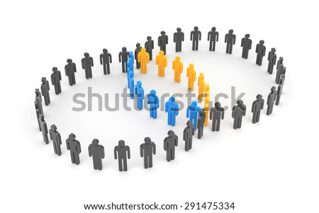 Contact group - stock photo