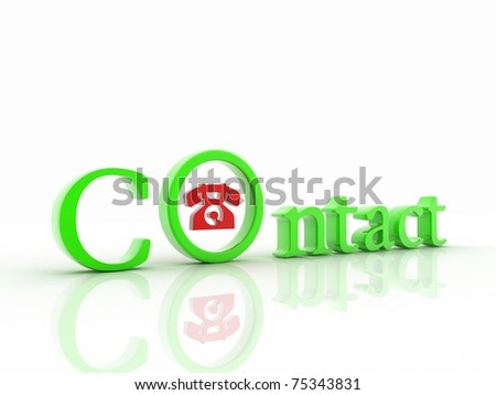contact icon - stock photo