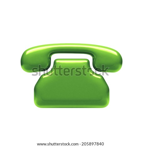 Contact Icon isolated on white background - stock photo