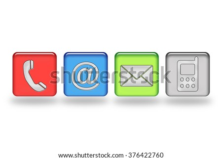 Contact information icons buttons