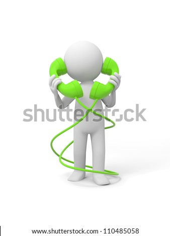 Contact/phone/A people speak by phone