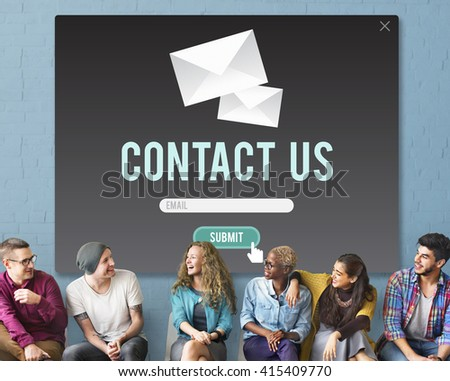 Contact Us Assistance Business Contact Help Concept - stock photo