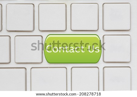 contact  us Button on Computer Keyboard - stock photo