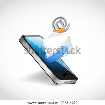contact us communication. phone illustration design over a white background