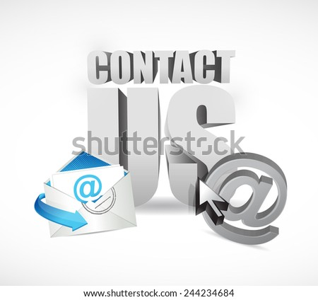 contact us concept illustration design over a white background - stock photo