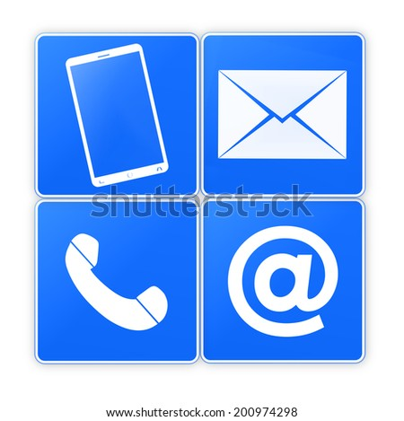 Contact Us Creative Icon Button Design Graphic