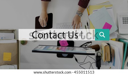 Contact Us Customer Service Support Enquiry Concept
