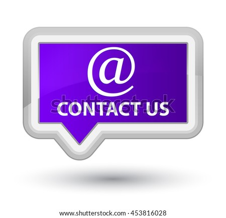 Contact us (email address icon) purple banner button