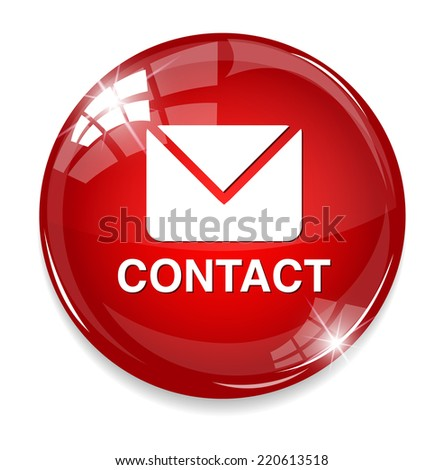 contact us icon - stock photo