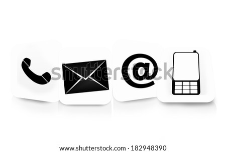 contact us icons white design