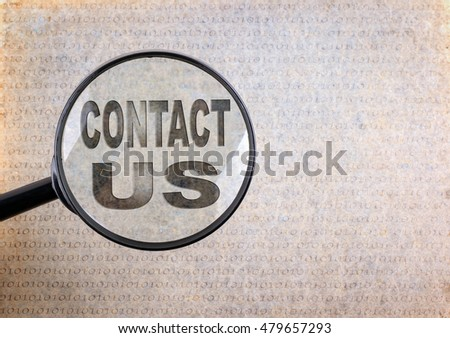 Contact Us. Magnifying optical glass on old paper background