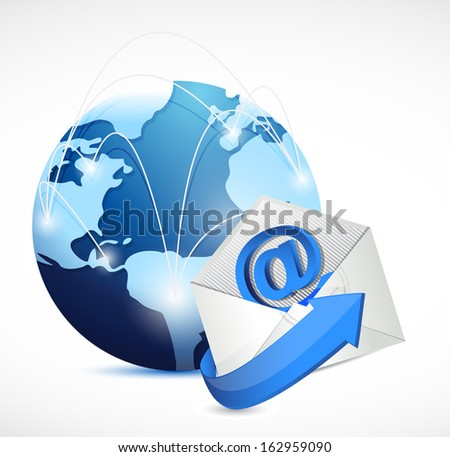 contact us network communication illustration design over white - stock photo