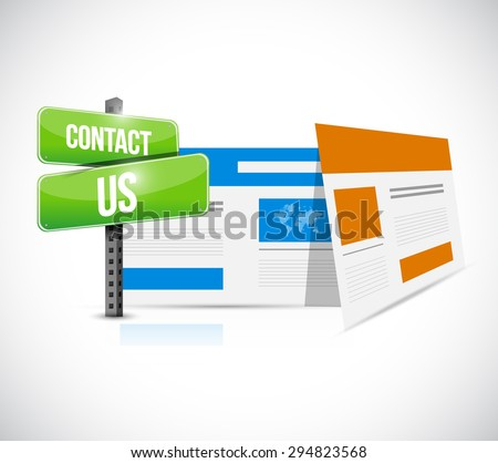 contact us web browser sign concept illustration design graphic