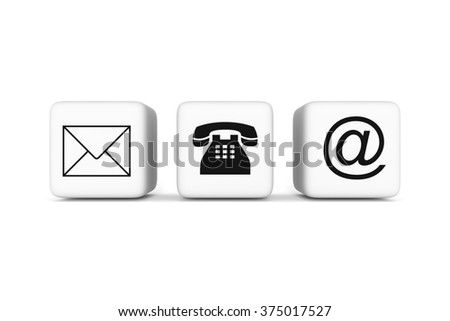 Contact us: white cubes on a white background