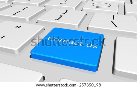 contact us   with word key or keyboard - stock photo
