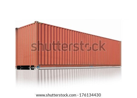 Container Cargo Delivery isolated on white background  - stock photo