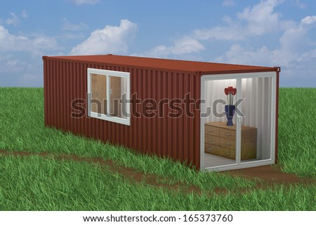 Container Converted into Home - stock photo
