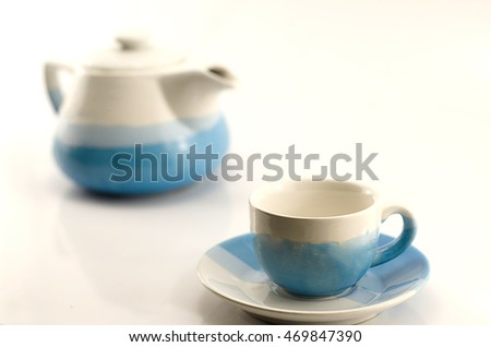 Container for coffee, with a white background.