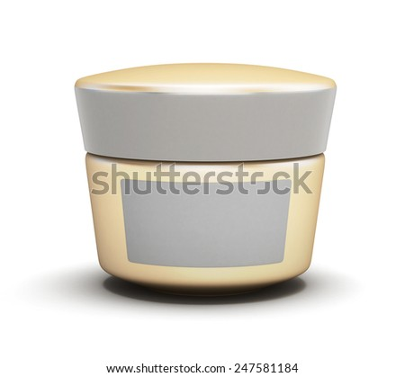 Container for cream isolated on white background. 3d render image. - stock photo