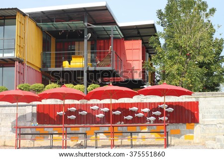 container house Exterior for design - stock photo