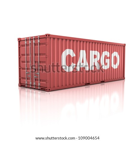 container isolated on white - stock photo