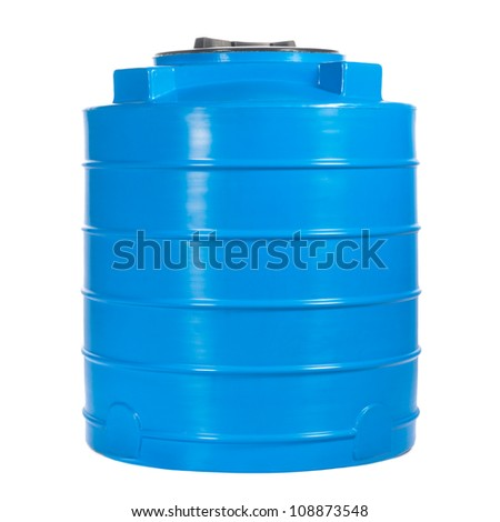 container of 400 litres. Used for accumulation, storage and transportation of not only technical or drinking water, but also a variety of dry and liquid food products, as well as oils and chemicals. - stock photo