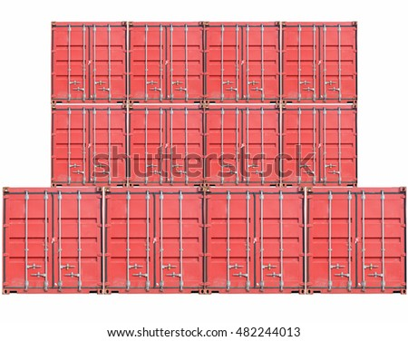 container On a white background