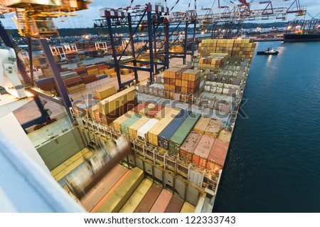 container operation in port, Durban South Africa