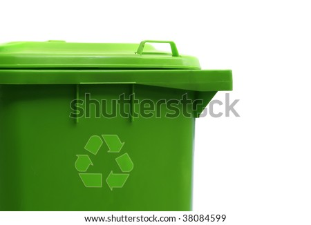 container set - green - stock photo