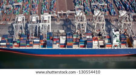 Container shipping - stock photo