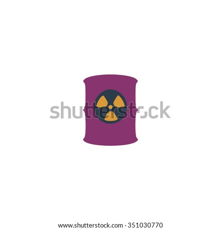 Container with radioactive waste. Colorful pictogram symbol on white background. Simple icon - stock photo