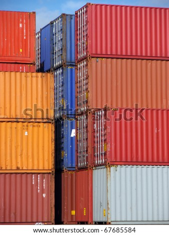 Containers Cargo - stock photo