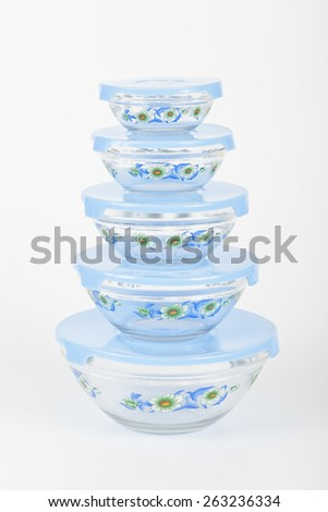 containers for the fridge - stock photo