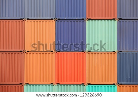 Containers shipping - stock photo